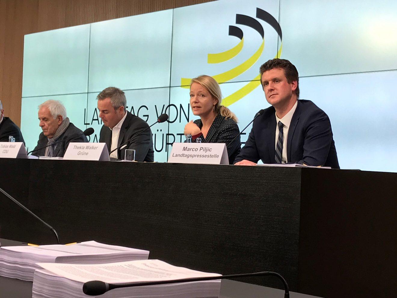 Pressekonferenz zu den Verhandlungen im Finanzausschuss