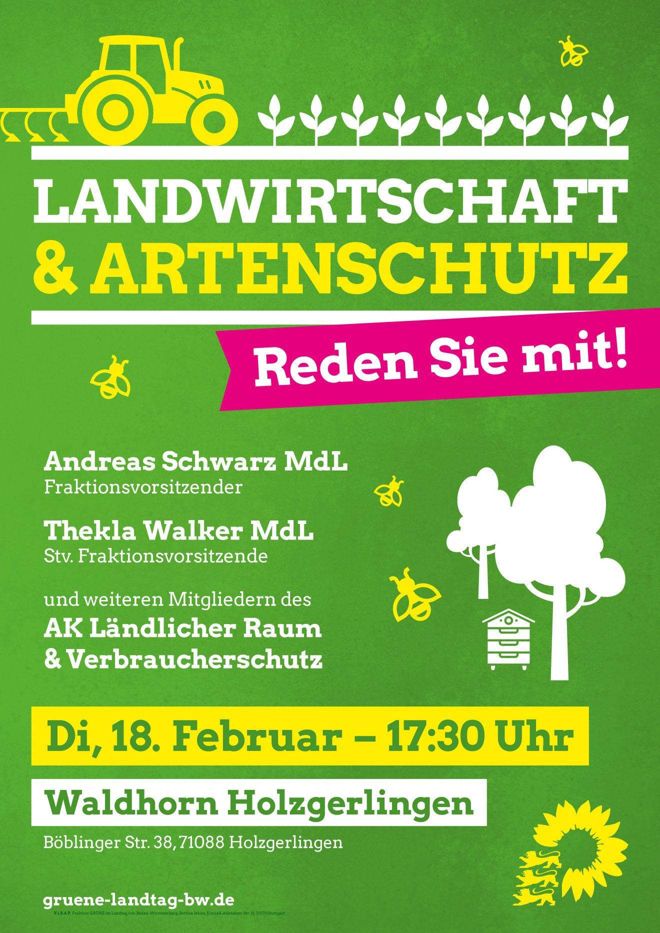 Einladung zu Landwirtschaft & Artenschutz - Reden Sie mit!