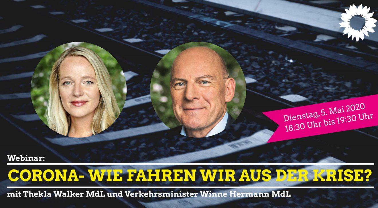 Webinar: Cororna - Wie fahren wir aus der Krise - mit Verkehrsminister Winne Hermann