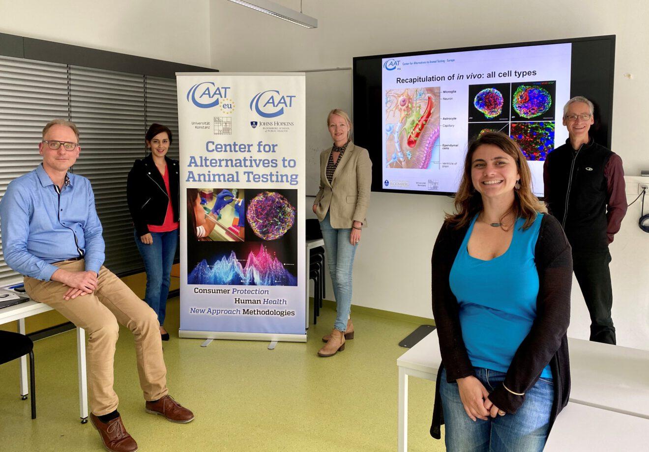 Grüne Landtagsabgeordnete Thekla Walker und Nese Erikli zu Besuch am CAAT Europe in Konstanz